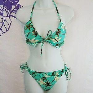 Other - Eidon tropical print bathing suit bikini